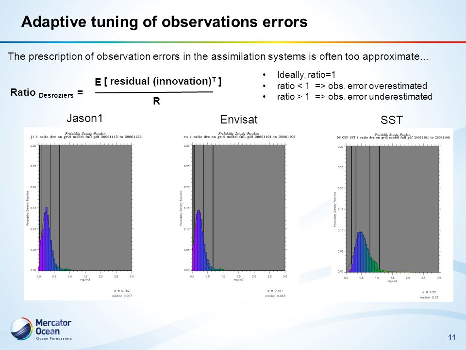 Adaptive tuning of observations errors