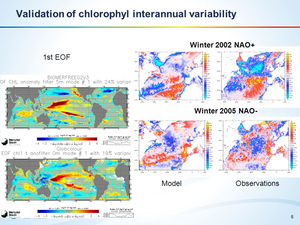 Validation of chlorophyl interannual variability