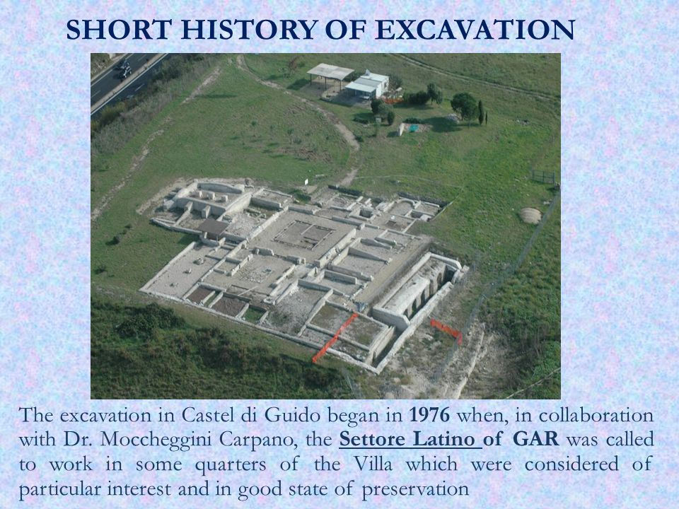 SHORT HISTORY OF EXCAVATION