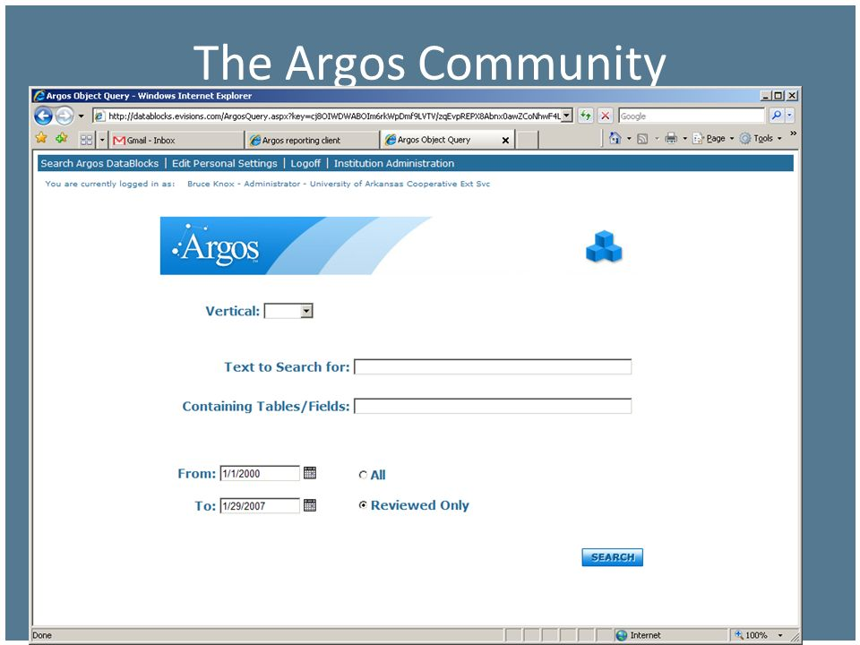The Argos Community Reviewed Code means that Evisions has tried it and it runs.