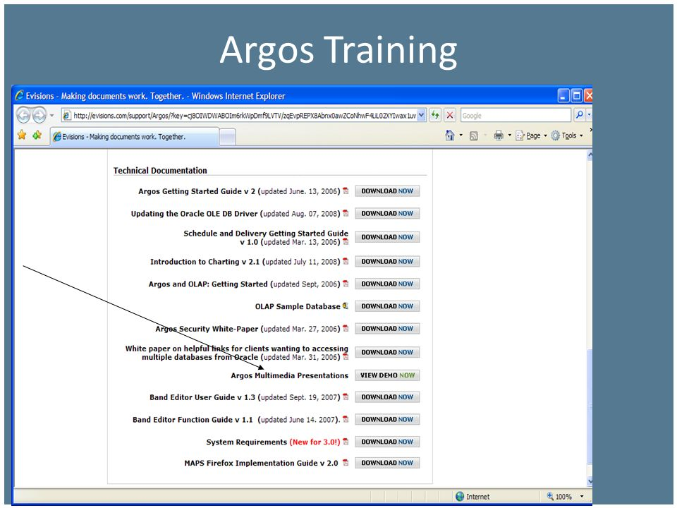Argos Training … that I suggest this cut-to-the-chase approach.