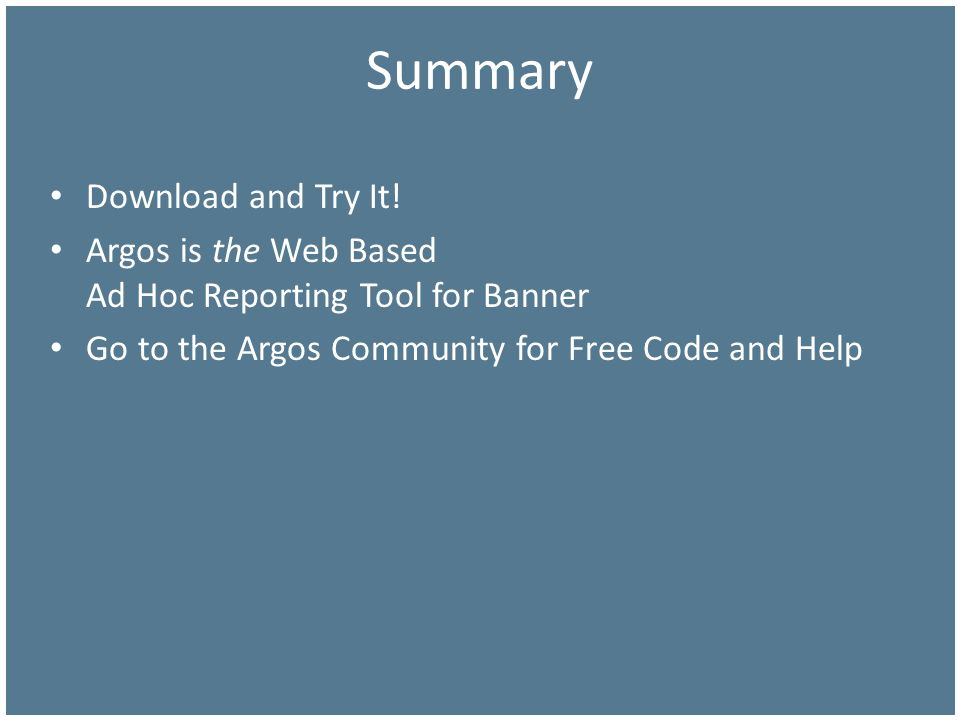Summary Download and Try It!