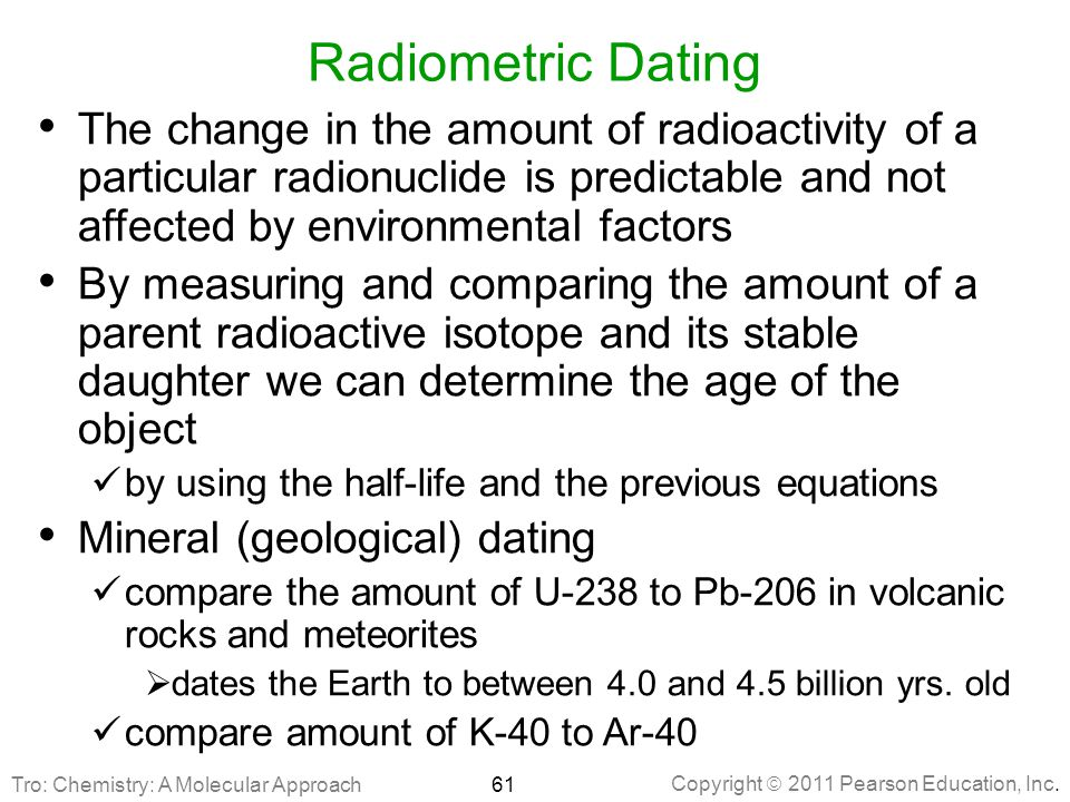 Radioactive dating pearson education