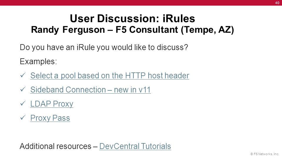 F5 User's Group September 13th ppt download