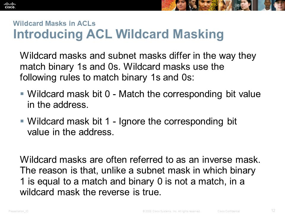 Wildcard Masks in ACLs Introducing ACL Wildcard Masking
