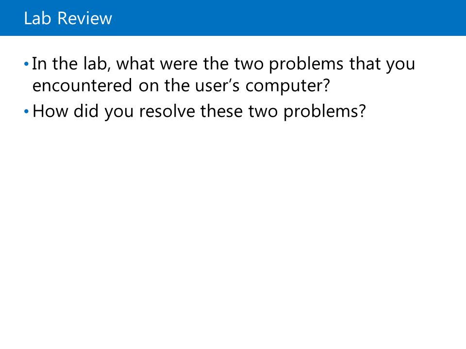 How did you resolve these two problems