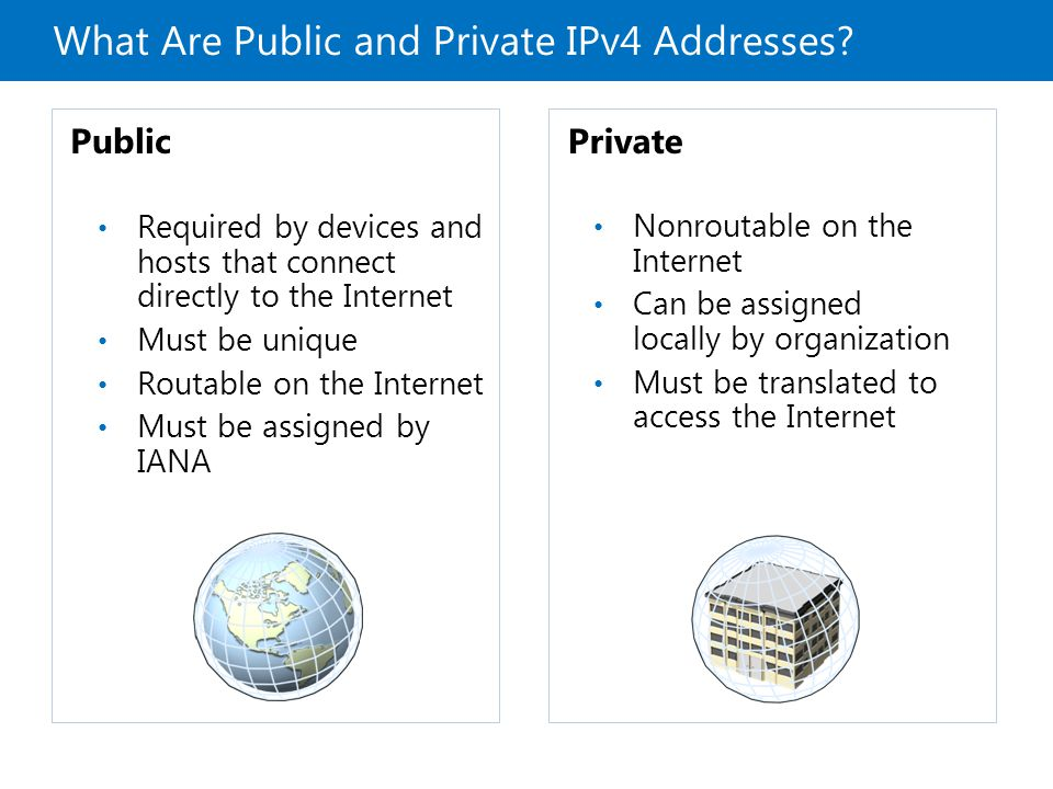 What Are Public and Private IPv4 Addresses