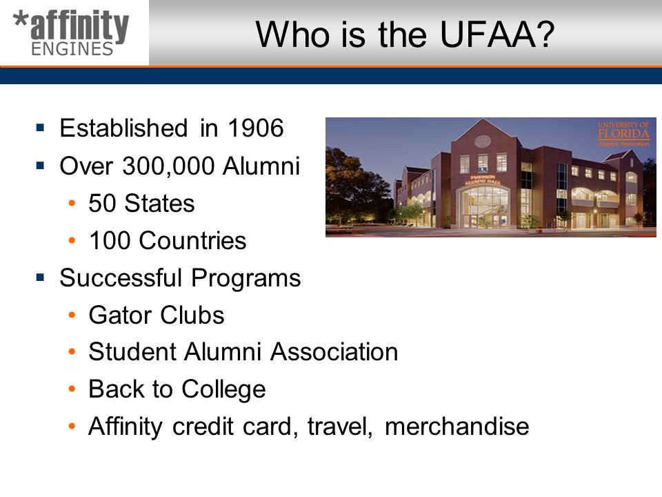 Who is the UFAA Established in 1906 Over 300,000 Alumni 50 States