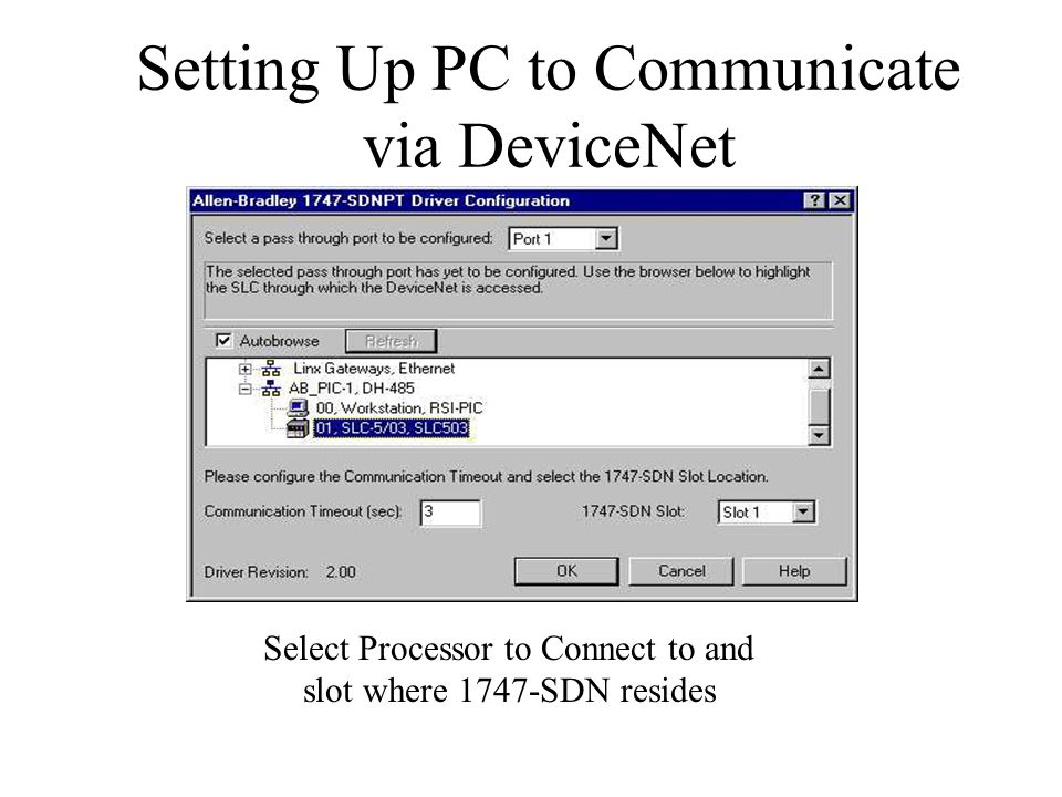 MLC Connectivity to SLC 500 via DeviceNet - ppt video online download