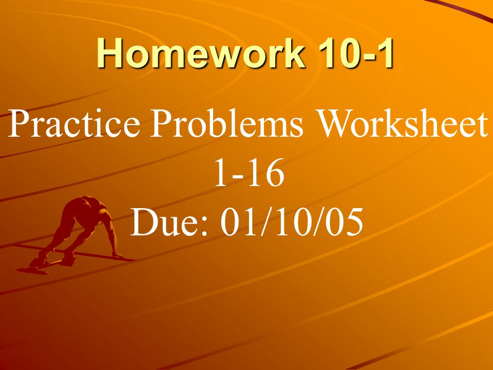 Practice Problems Worksheet