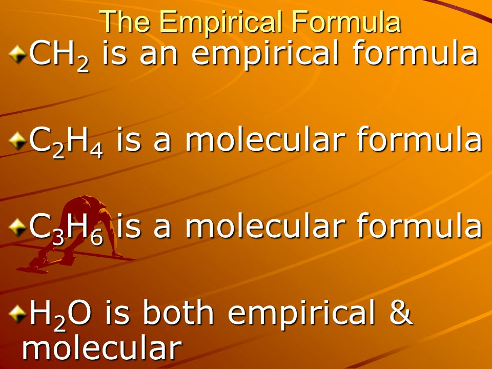 CH2 is an empirical formula C2H4 is a molecular formula