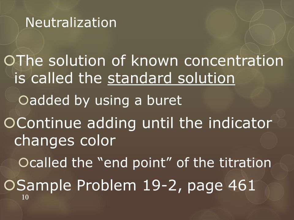 The solution of known concentration is called the standard solution