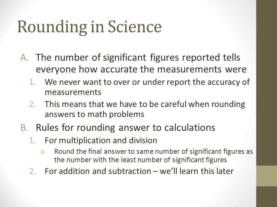Measurement Significant Ures Ppt Video Online Download. 6 Rounding In Science The Number Of Significant Ures. Worksheet. Rounding Significant Figures Worksheet With Answers At Clickcart.co