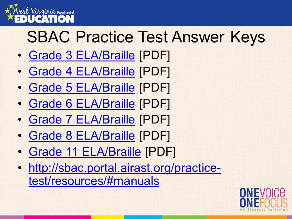 Grade 8 Collection 4 Test Answer Key