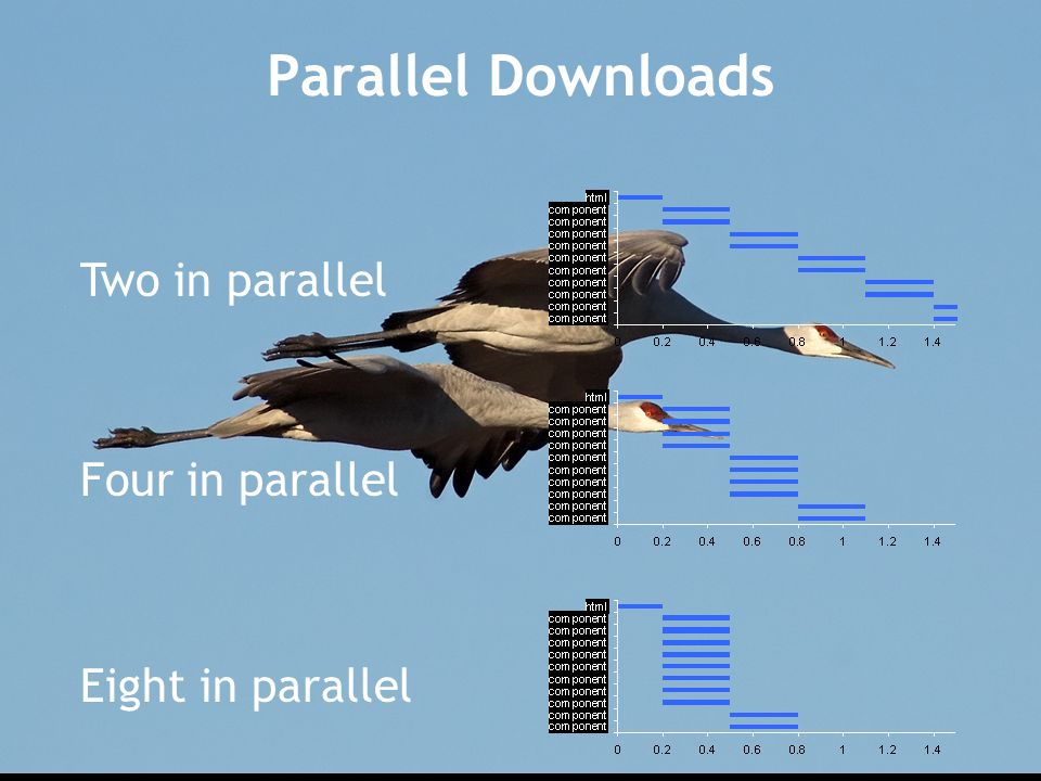 Parallel Downloads Two in parallel Four in parallel Eight in parallel