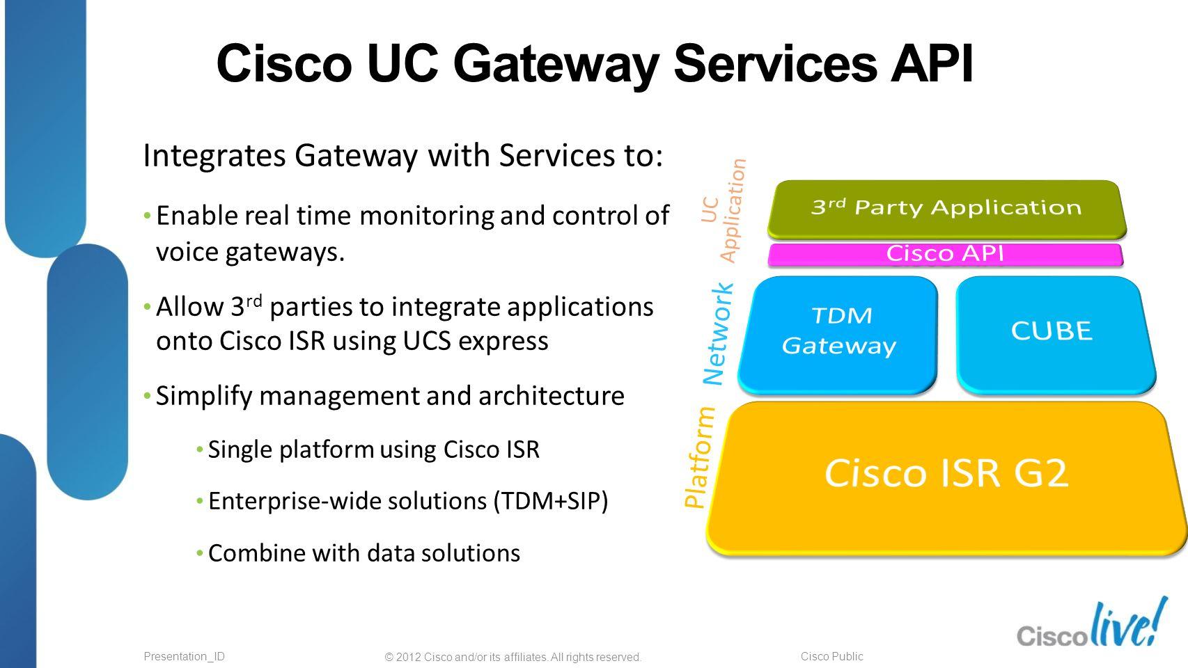 Cisco UC Gateway Services API: Drive revenue and