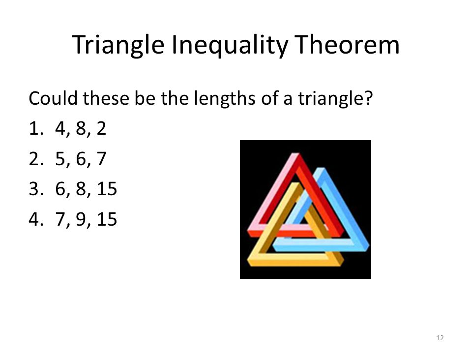 What is the triangle inequality theorem ppt download - Exterior angle inequality theorem ...