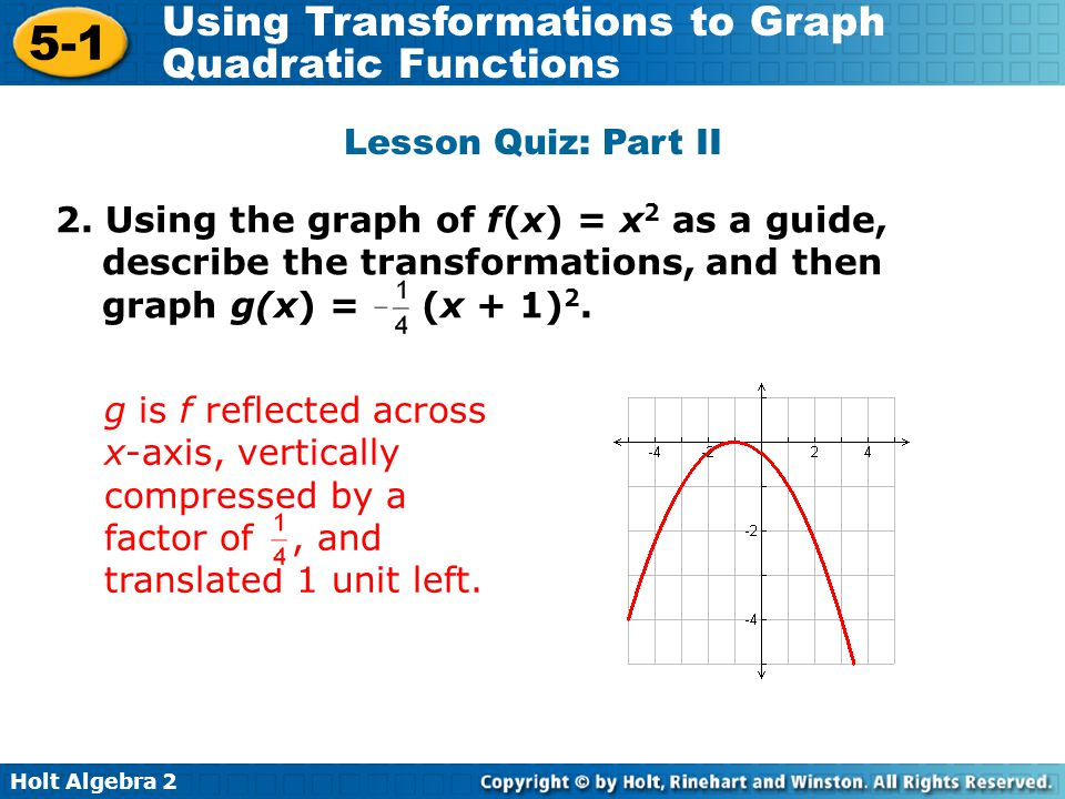 Using Transformations to Graph Quadratic Functions ppt download