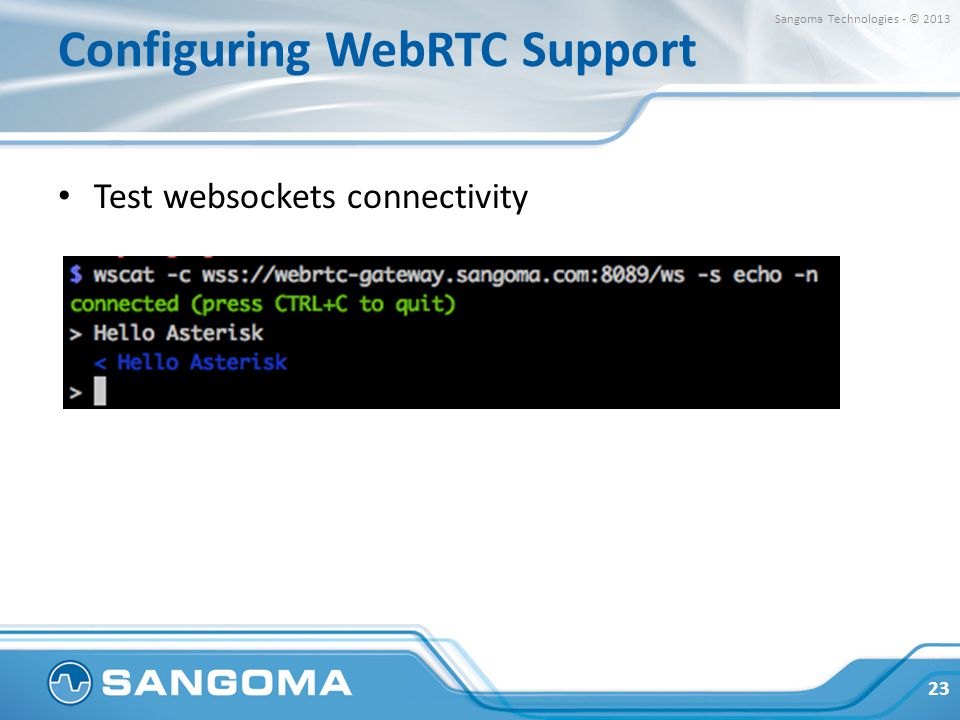 Implementation Lessons using WebRTC in Asterisk - ppt download