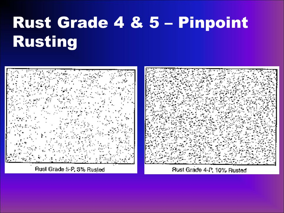 Rust Grade 4 & 5 – Pinpoint Rusting