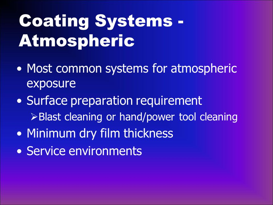 Coating Systems - Atmospheric