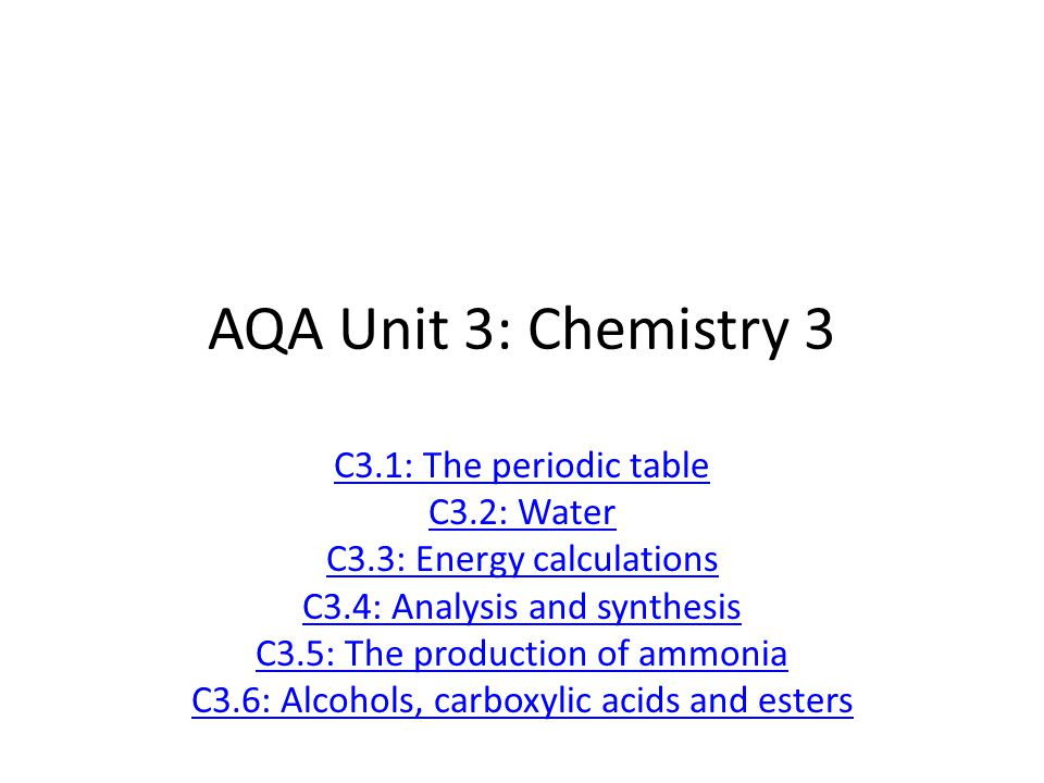 Aqa unit 3 chemistry 3 c31 the periodic table c32 water ppt aqa unit 3 chemistry 3 c31 the periodic table c32 water urtaz Image collections
