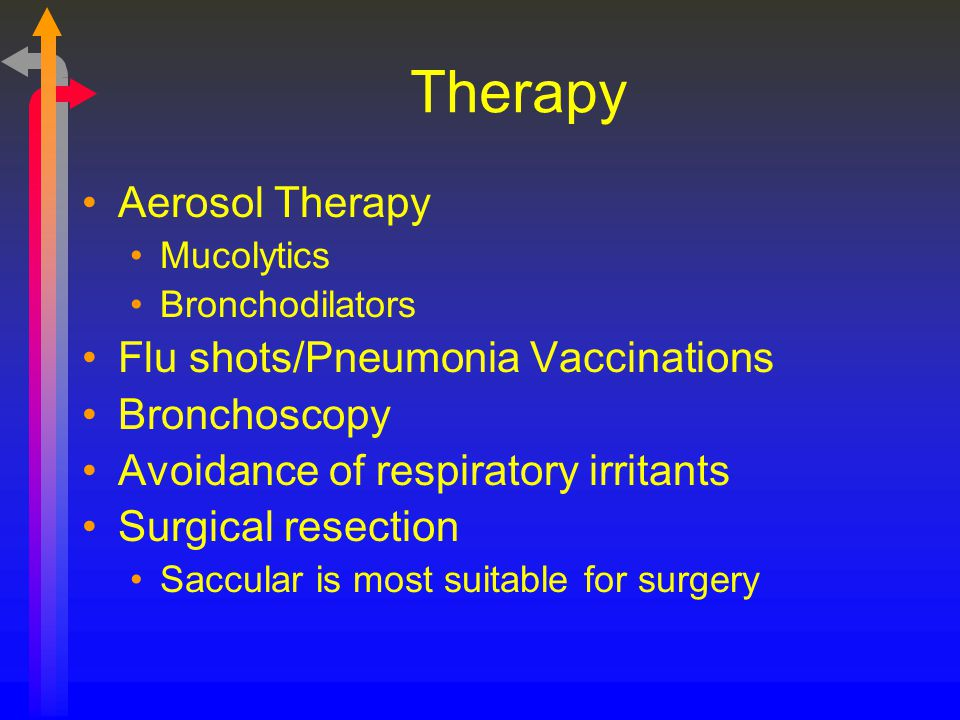 Therapy Aerosol Therapy Flu shots/Pneumonia Vaccinations Bronchoscopy