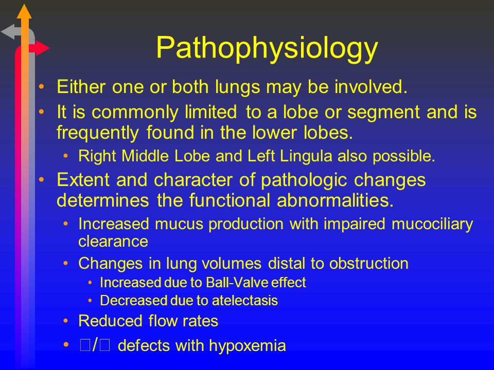 Pathophysiology Either one or both lungs may be involved.