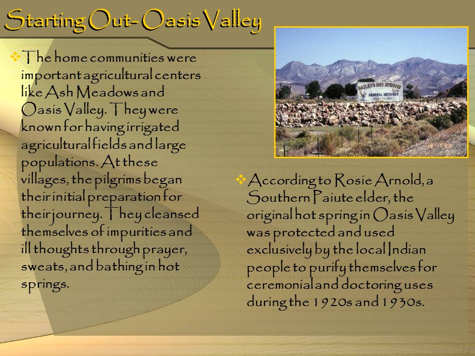 Starting Out- Oasis Valley