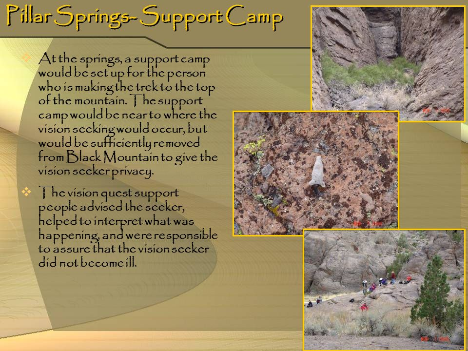 Pillar Springs- Support Camp
