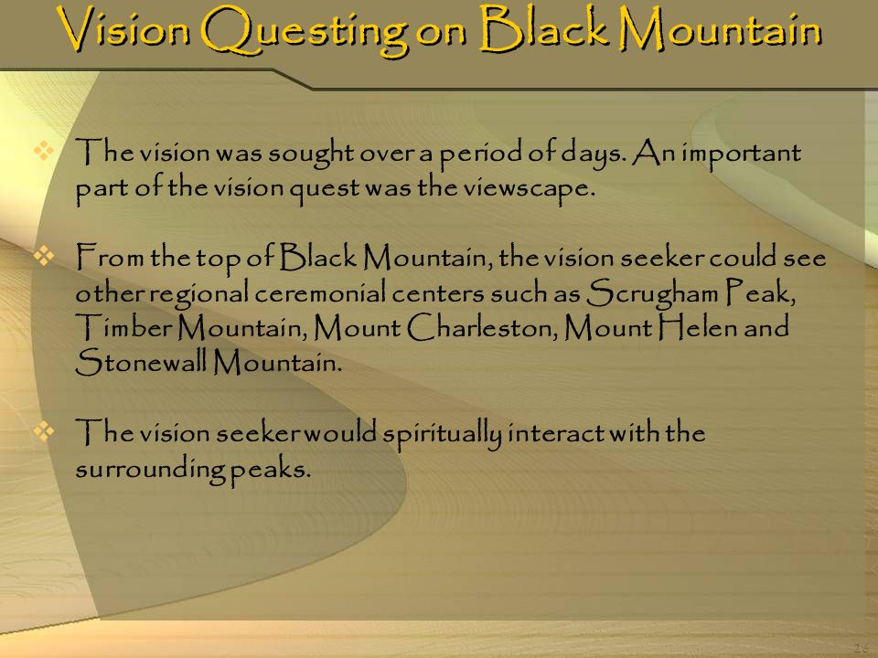 Vision Questing on Black Mountain