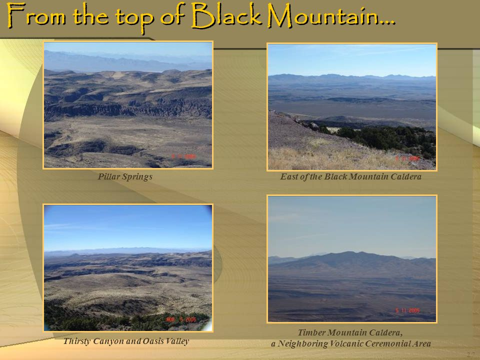 From the top of Black Mountain…