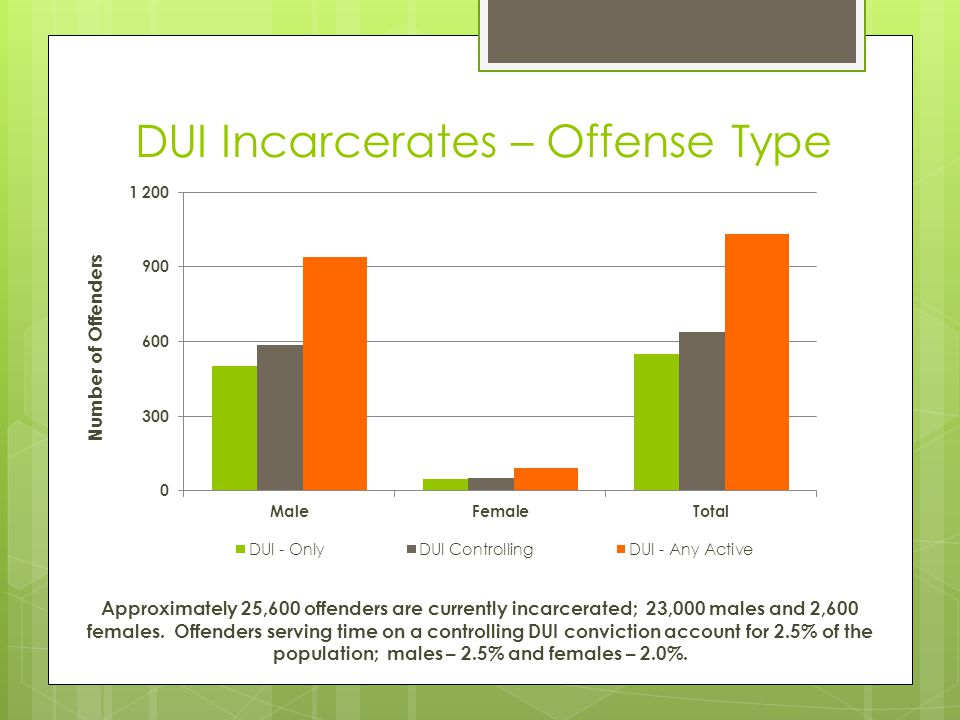 DUI Incarcerates – Offense Type