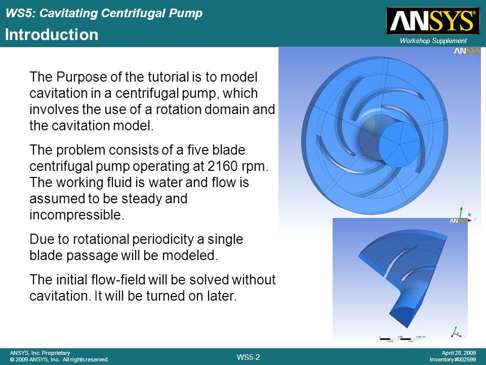 Workshop 5 Cavitating Centrifugal Pump - ppt download