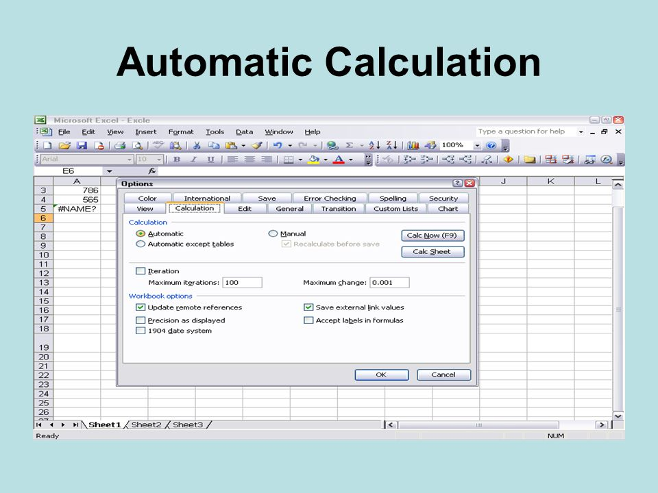 Automatic Calculation