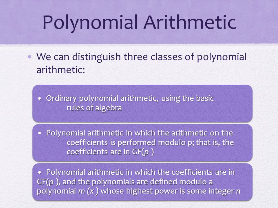 Polynomial Arithmetic