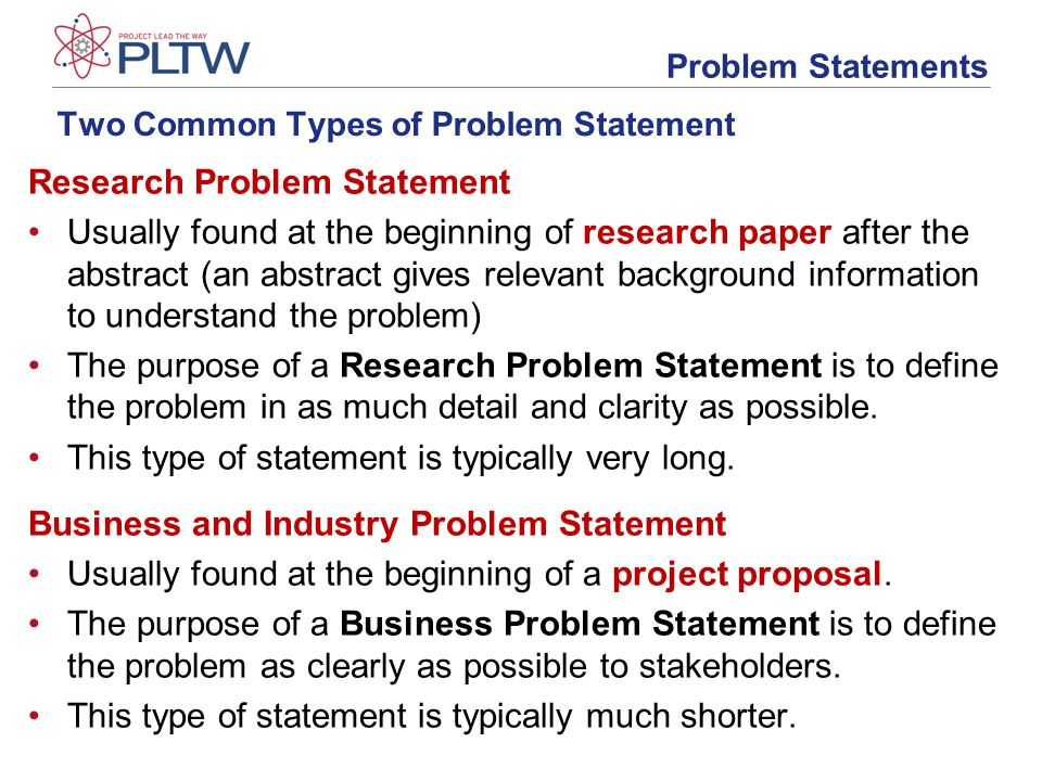 how to write a good problem statement in research study