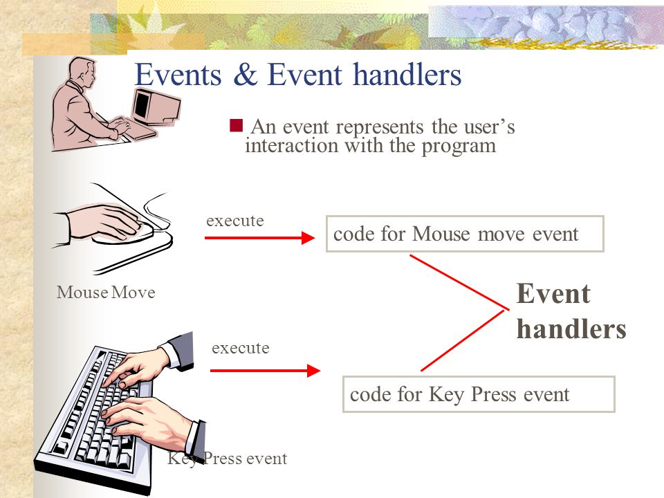 Events & Event handlers