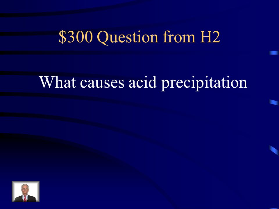 What causes acid precipitation