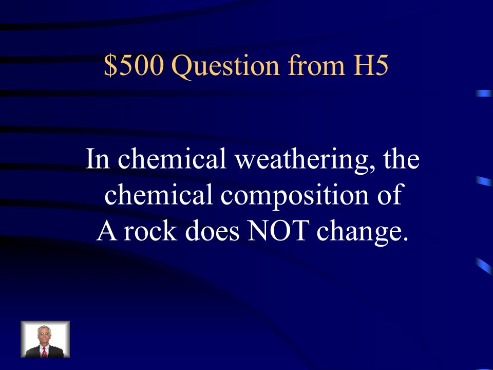 In chemical weathering, the chemical composition of