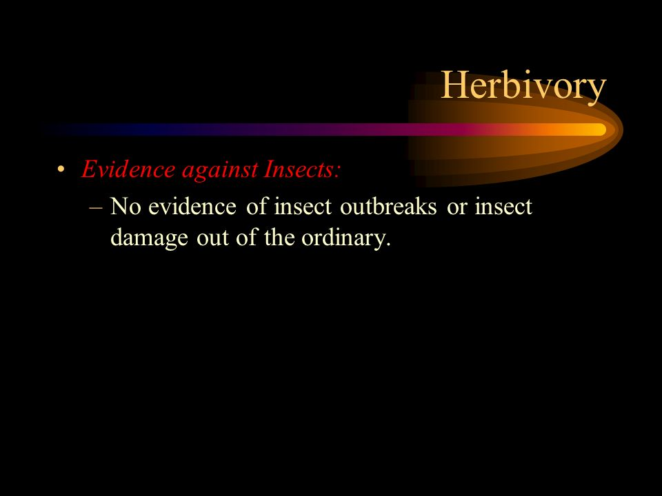 Herbivory Evidence against Insects: