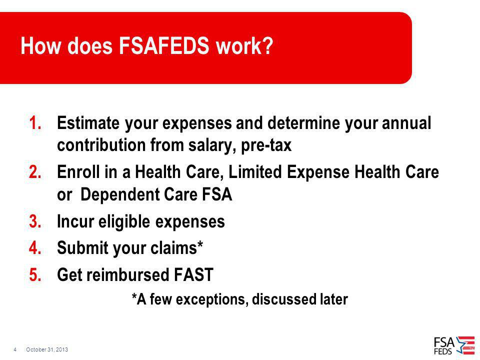 7bee4f036c THE FEDERAL FLEXIBLE SPENDING ACCOUNT PROGRAM - ppt video online ...
