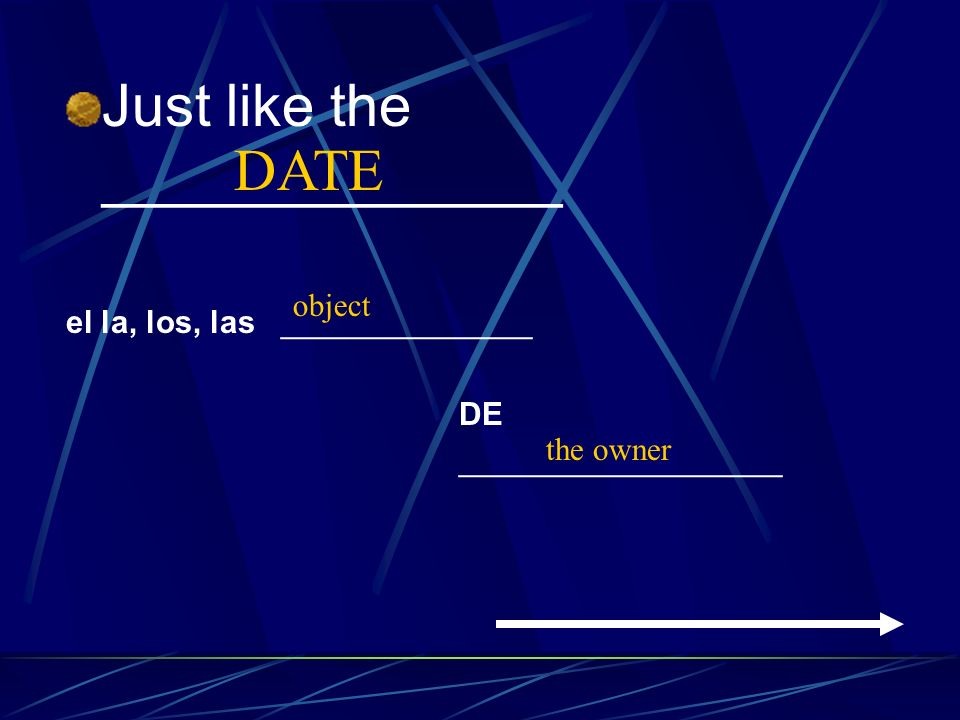 Just like the ______________ DATE