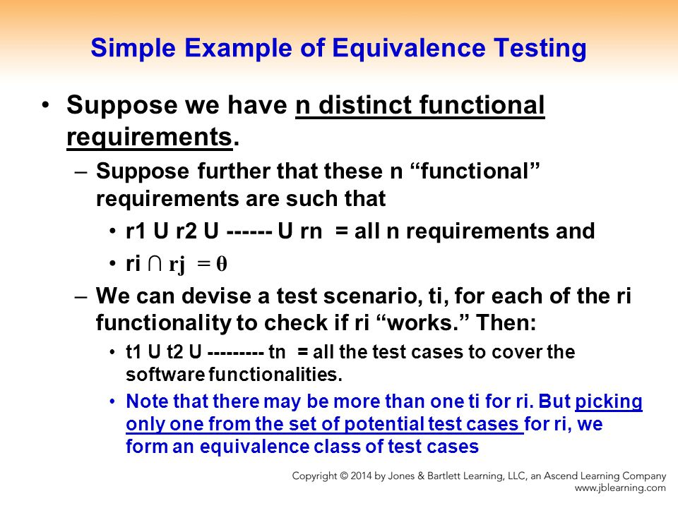 Simple Example of Equivalence Testing