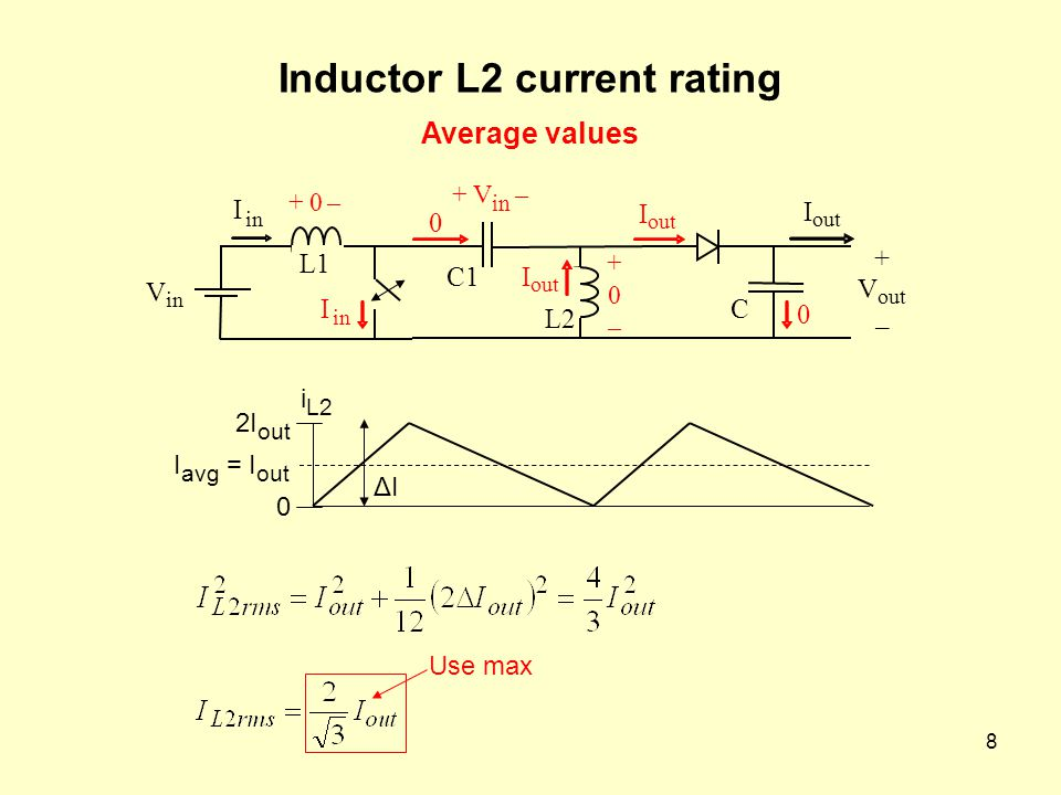Inductor L2 current rating
