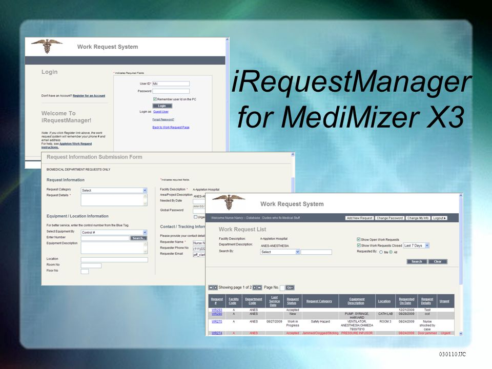 iRequestManager for MediMizer X3