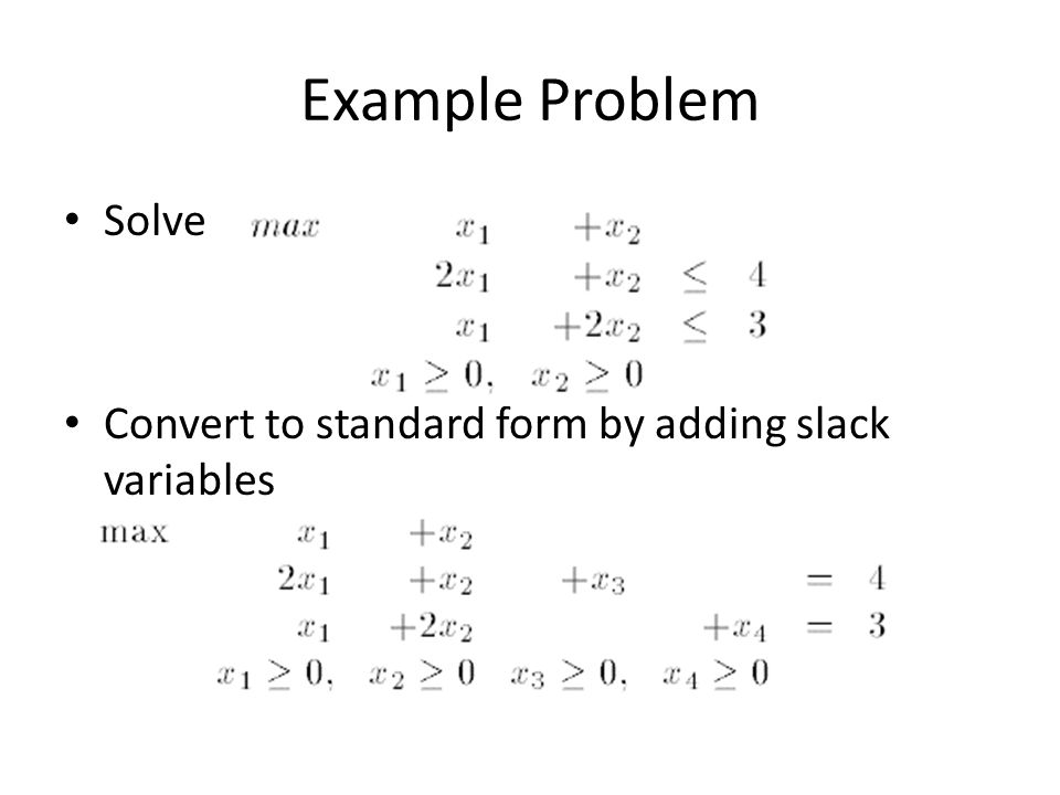 Linear Programming Simplex Method Ppt Video Online Download