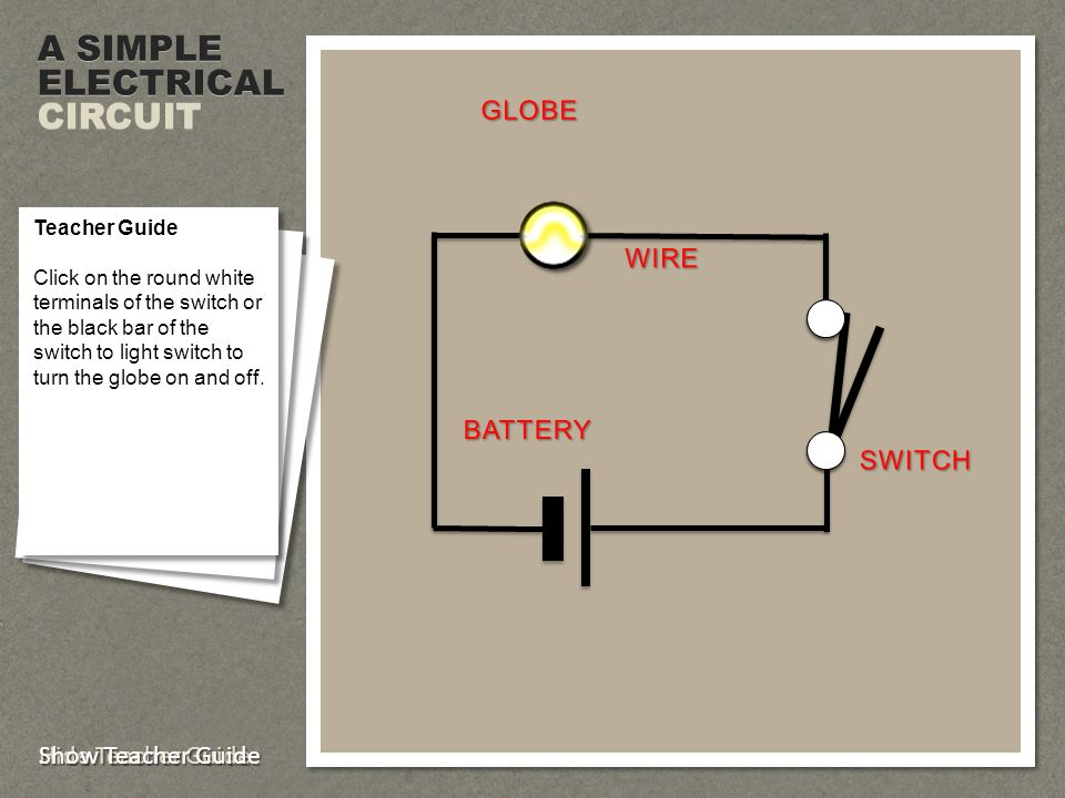 Electrical Circuit Diagrams Ppt Video Online Download. A Simple Electrical Circuit Globe Wire Battery Switch. Wiring. Magic Safety Switch Wiring Diagram At Scoala.co