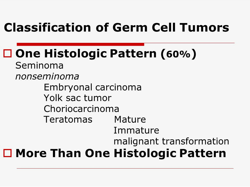 Classification of Germ Cell Tumors