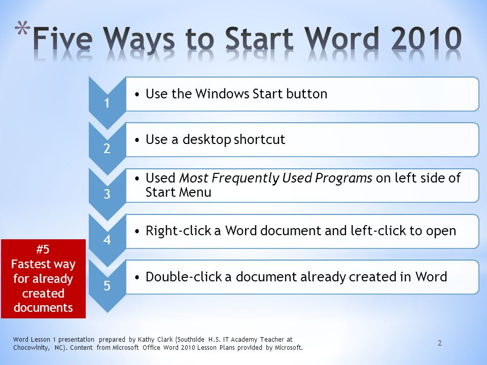 microsoft word lesson plan